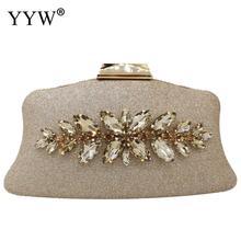 YYW2019 Fashion Rhinestone Evening Party Clutch Bag Snakeskin Pattern Banquet Glitter Sequined Clutch Purse Women'S Bag shoulder