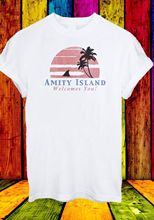 Amity Island Welcomes You Jaws Retro Movie 70's 80's Men Women Unisex T-shirt 29 New T Shirts Funny Tops Tee free shipping цена 2017