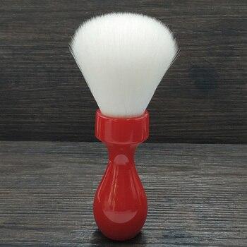 Dscosmetic 26mm Cachemira pelo sintético nudos brocha de afeitar con mango de resina roja