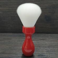 Dscosmetic brocha de afeitar con nudo de pelo sintético de Cachemira, 26mm, con mango de resina roja