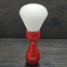 dscosmetic 26mm Cashmere synthetic hair knots shaving brush with red resin handle dscosmetic 26mm galaxy resin handle 2 band silvertip badger hair shaving brush
