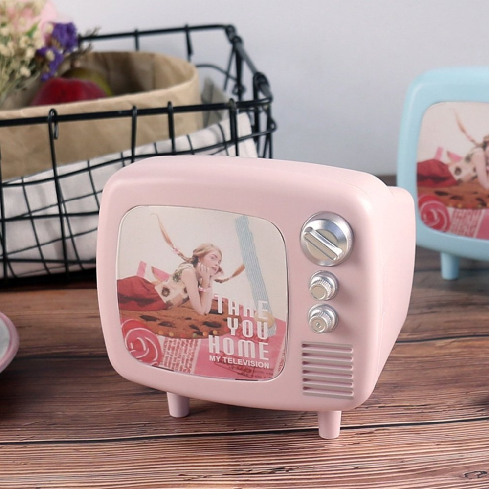 Cute Vintage Tv Shaped Piggy Bank Decorative Money Saving