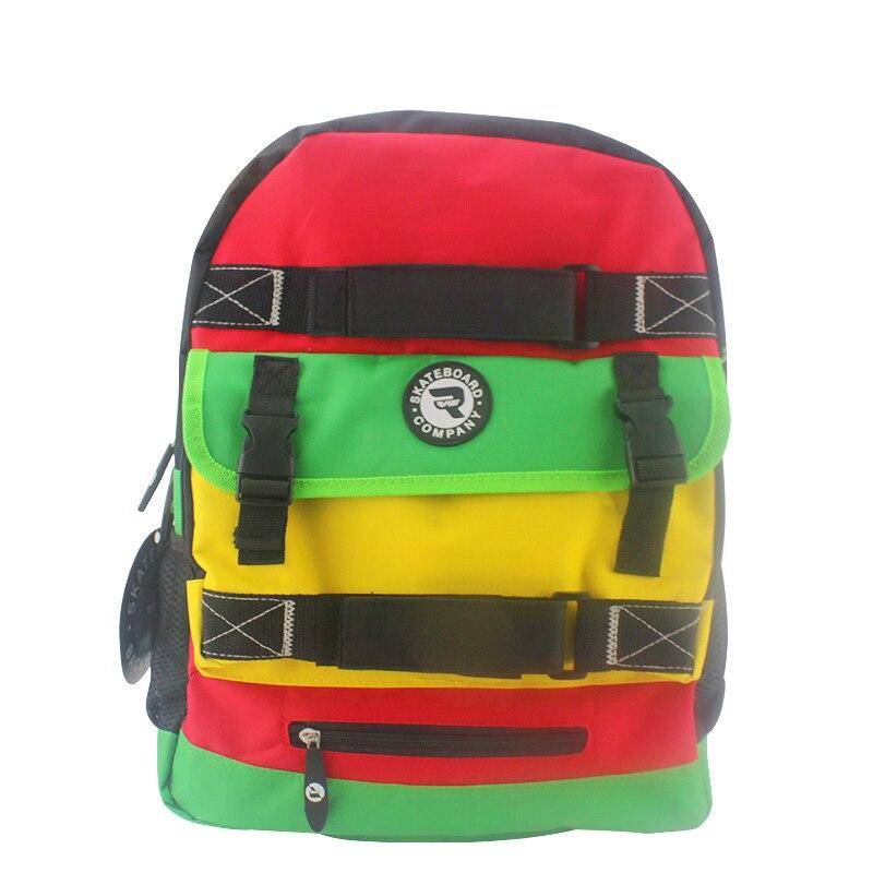 Skateboard Backpack Adult Student Shoulder Bags Sports Canvas Tide Board Street Travel Waterproof Bag Skateboard Parts