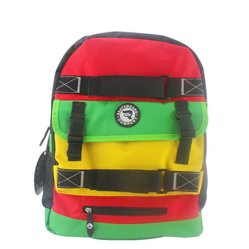 Skateboard Backpack Adult Student Shoulder Bags Sports Canvas Tide Board  Street Travel Waterproof Bag Skateboard Parts 85c57d6b9c49d