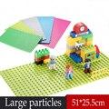 1 unids Grandes Bloques Placa Base 32x16 Puntos 51x25 cm Placa Base Para Duploe Minifig Figuras de Animales Compatible Placa legoINGlys