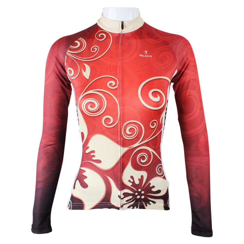 Nový božský květ ženy polyester s dlouhým rukávem cyklistické - Cyklistika
