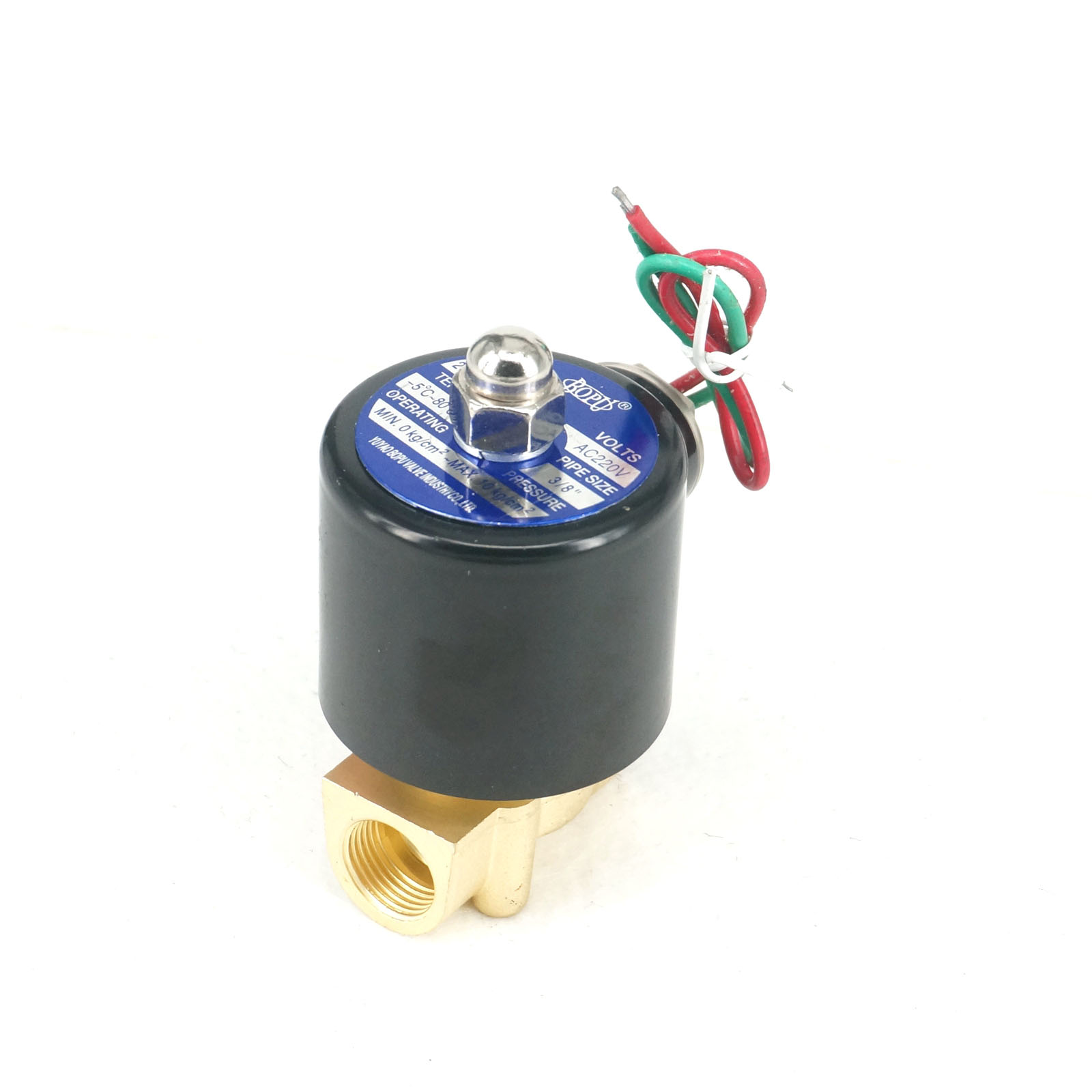 online buy whole 3 wire solenoid from 3 wire solenoid ac220v 2 way nc switch magnetic solenoid valve 3 8 bsp 2w 040