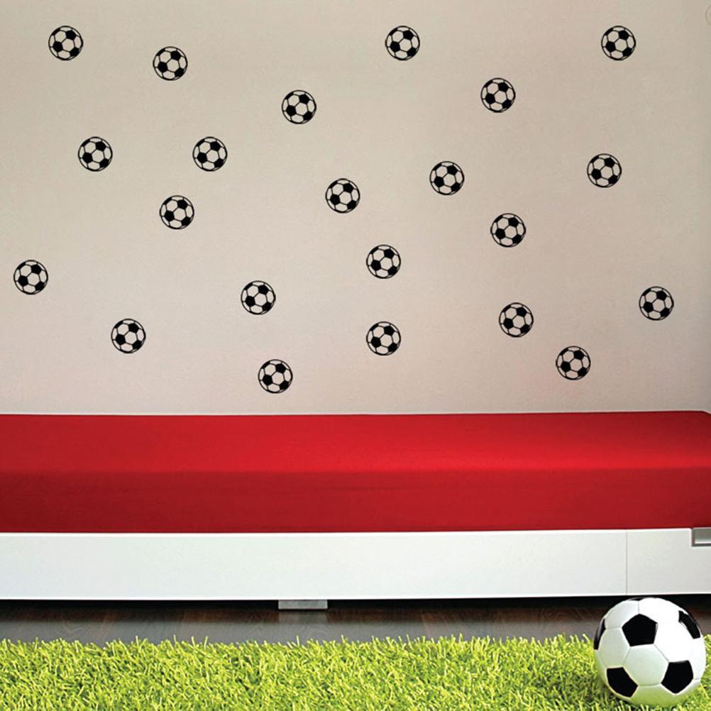 Personalized Sports Football Soccer Ball Wallpaper Bedroom Art Vinyl Wall For Boys Kids Rooms