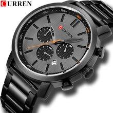 CURREN повседневные кварцевые аналоговые Мужские часы модные спортивные наручные часы с хронографом из нержавеющей стали мужские часы Relogio Masculino