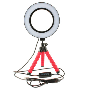 Image 3 - Selfie Ring Light with Wireless Remote Tripod for YouTube Makeup Mini Led Camera Ringlight Phone Clip Huawei Mate 30 Lite