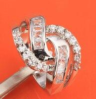 Impressive White Crystal Topaz 925 Sterling Silver Fashion Trendy Women S Jewelry US Size 6 7