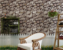 beibehang papel de parede Stereo Retro Antique Culture Stone Background 3d Wallpaper Restaurant Hot Pot Shop tapety