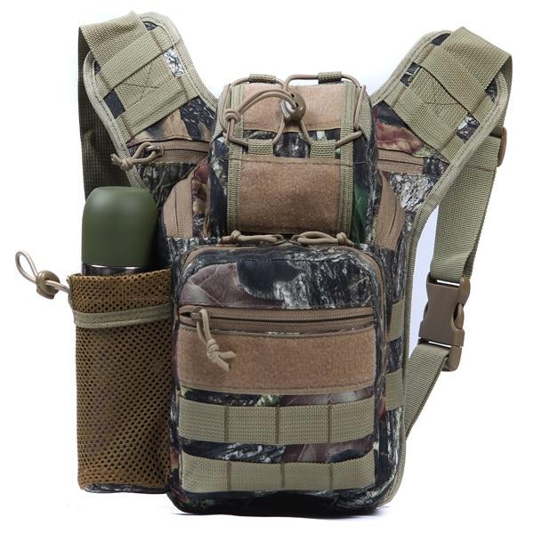 Battlefield Camouflage Canvas Taille Packs Crossbody Tas Outdoor Klimmen Tas Reizen Fles Zak 8 Kleur