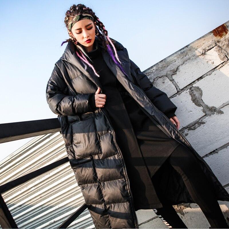2018 Nouvelle Chauds Hauts Black Hiver Gx1622 Poches Coton Manteaux Grandes D'extérieur Femelle Manches Épaississent Marque Longues Capuche Mode En Lâche À IWEH9D2