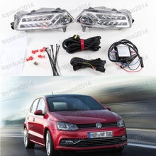 2pcs LED Daytime Running Light DRL with turning lamps fog driving lamp with wiring harness For