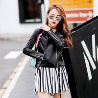 New Korean Version Short Leather Jacket Pu Women S Coat Motorcycle Women S Leather Jacket