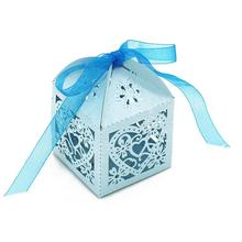 50 шт Любовь Сердце праздничный свадебный сувенир коробочки для леденцов с ленточками украшения стола конфеты сумки