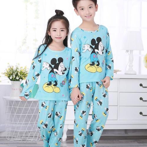 2018 Kinder Schöne Pyjamas Cartoon Kinder Langarm-schlafanzug Jungen Mädchen Herbst Nachtwäsche Baby Nighty Anzug Kind Bedgown Kleidung