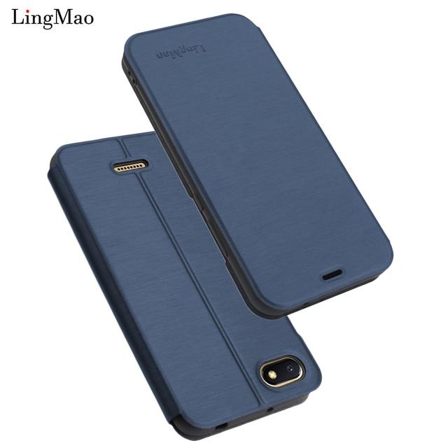 size 40 bdc36 e0f6c US $4.55 7% OFF|Lingmao Luxury Leather Flip Case for Xiaomi Redmi 6A Wallet  Smart Book Cover for Xiaomi Redmi 6A Coque Phone Bag Case Hoesje-in Flip ...