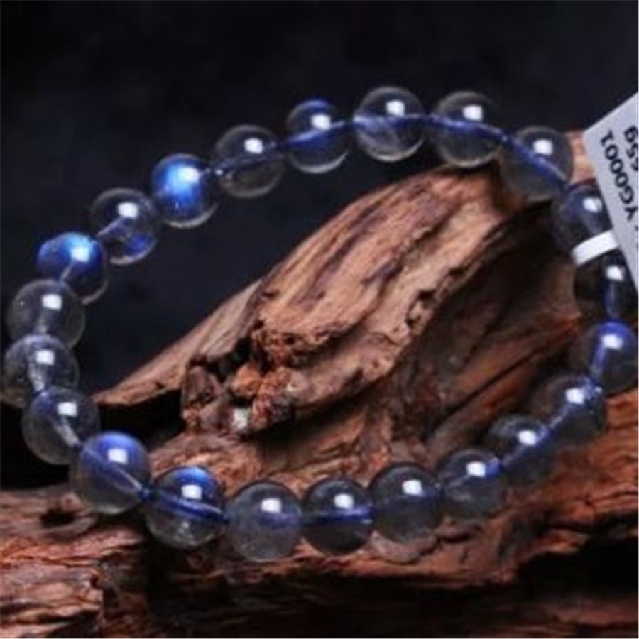 9mm Free Shipping Genuine Natural Ice Labradorite Rainbow Blue Light Crystal Round Beads Jewelry Stretch Charm Bracelets Femme