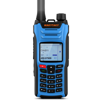 WAKYTAKY Walkie talkie 10 km 8W 136 520MHz Five Bands Handheld Two Way Ham Radio Transceiver Color Screen and SOS for Hunting