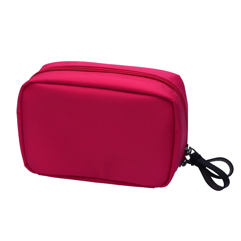 New Fashion Nylon Women Cosmetic Bags Travel Potable Organizer Makeup Cases With Wash Bag Femail Make Up Bag Red fashion cosmetic bags high quality patent leather make up bags ladies cosmetic cases organizer bags cute cosmetic bag