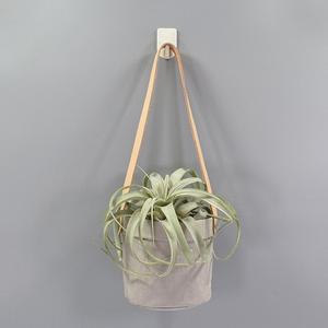 Image 3 - Mini Succulents Planter Pot Washable Kraft Paper Flowerpot Kraft Paper Hanging Flower Pots With Leather Hand Strap Hanging Pot