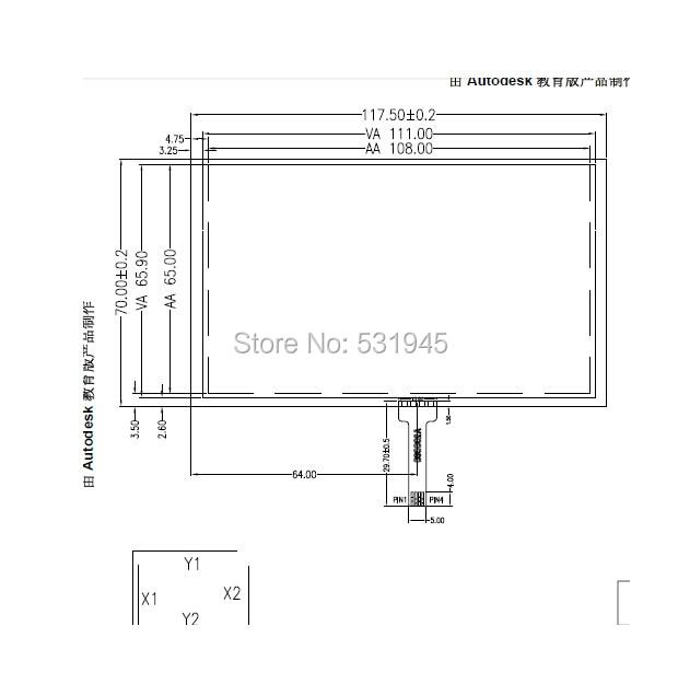 ZhiYuSun 117*70 5inch GPSvehicle-mounted navigation MP5 MP4 vx580 580r resistive handwritten touch screen Quality assurance
