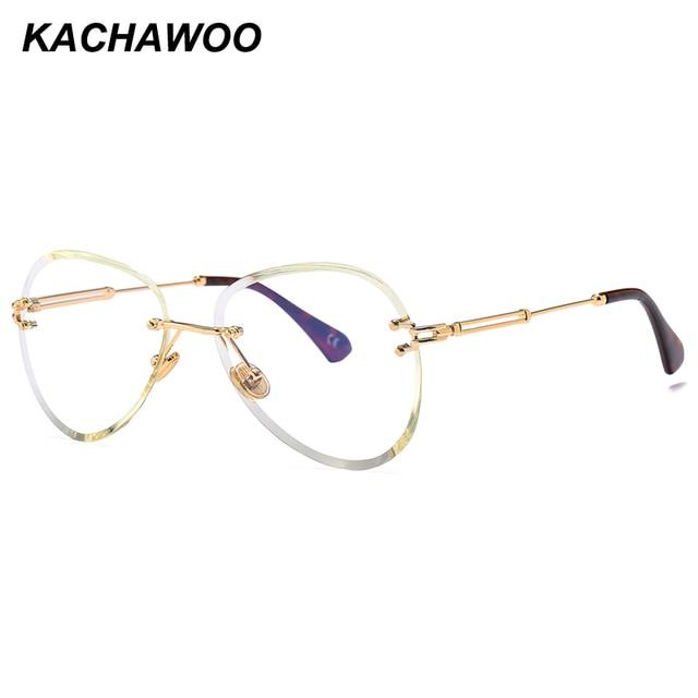 049b2ea7c9e Kachawoo wholesale 6pcs rimless glasses female accessories 2018 hot sale  clear lens metal frameless eyeglasses women