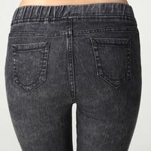 2016 Зимние Теплые Узкие Джинсы Высокая Талия Упругая 60-105 КГ Плюс Размер Женщин Джинсовые Брюки Мода кошачьих царапин джинсовые женщины