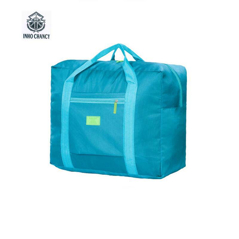 INHO CHANCY! کیسه های مسافرتی قابل حمل تاشو نایلون ضد آب کیسه های سفر با ظرفیت های بزرگ کیف های دستی کیف های چمدان حمل و نقل رایگان