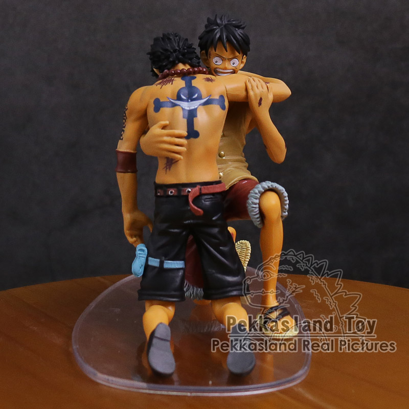 Image 2 - Anime One Piece DRAMATIC SHOWCASE Luffy Ace 5th Season vol.1 PVC Action Figure Collectible Model ToyAction & Toy Figures   -