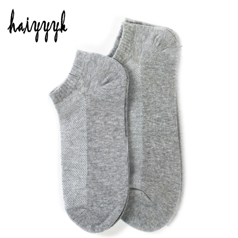 10Pcs=5Pair Solid Mesh Men Cotton Socks Invisible Ankle Socks Men Summer Breathable Thin Boat Socks  Big Size EUR 42-47