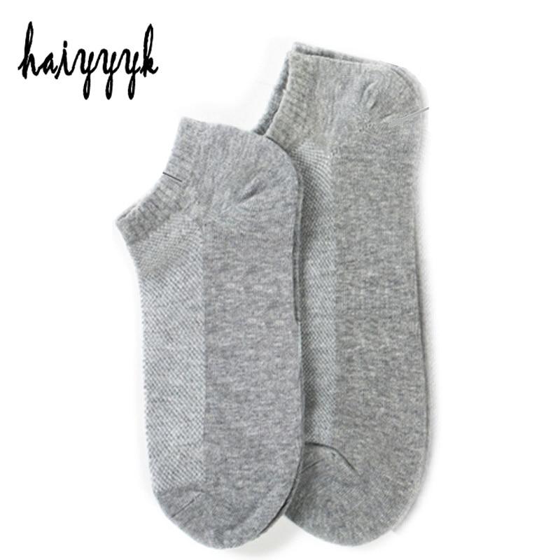 10Pcs=5Pair Solid Mesh Men Cotton Socks Invisible Ankle Socks Men Summer Breathable Thin Boat Socks  Big Size EUR 42-47