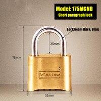 Brass High Quality Waterproof Anti Theft Tamper Security Locks Outdoor Door Locks Password Keys Combo Padlock