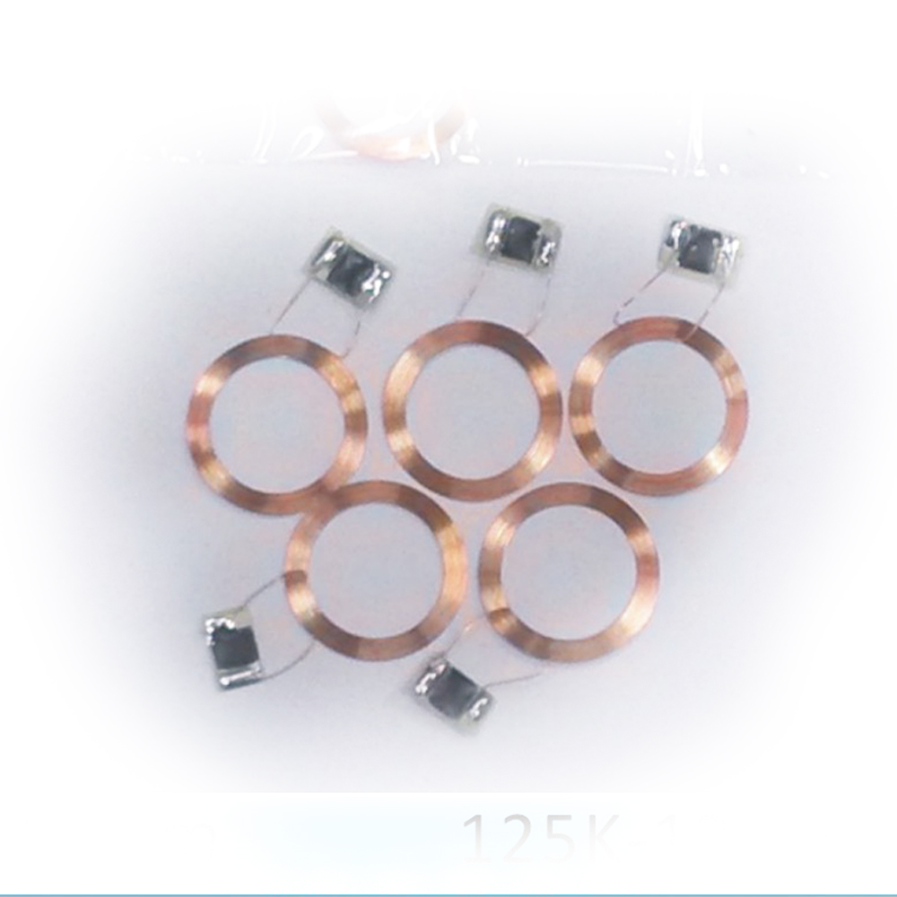 free shipping 100pcs RFID 125KHz TK4100 chips transparent coin tags/ 125KHZ ID round coins free shipping 125khz rfid
