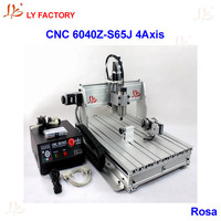LY Factory 6040Z S65J 4 Axis CNC Router Engraver 800W Water Cooling Spindle Motor