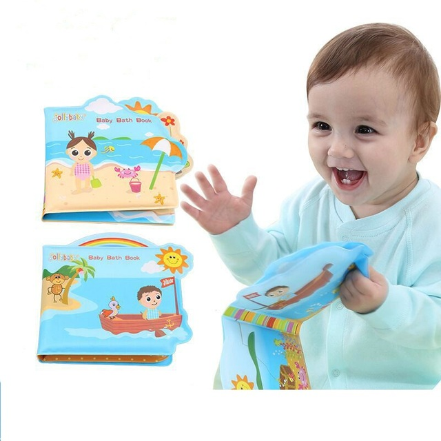 Waterproof Baby Bath Book For Kid Playing Bath Time Toys Soft PVC ...