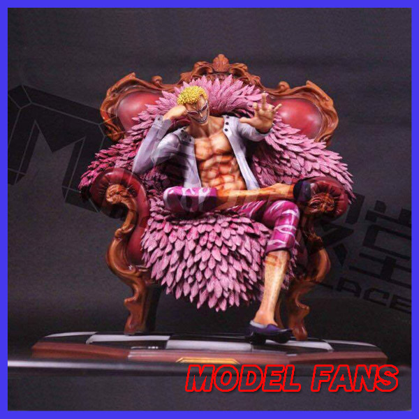 MODEL FANS instock One Piece 25cm Donquixote Doflamingo Sitting position gk resin toy Figure for Collection model fans instock one piece 18cm donquixote doflamingo vs trafalgar law gk resin toy figure for collection