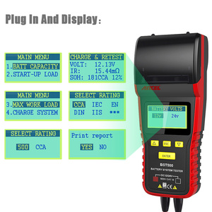 Image 3 - 12V&24V Car Battery Tester Analyzer ANCEL BST500 With Printer for Heavy Duty Truck Car Battery Auto Maintenance diagnostic tool