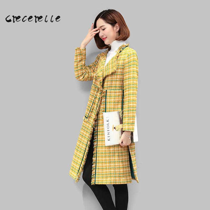 Winter Wool Coat Loose 2018 New Large Size Women Woolen Coat Elegant Girl Needs Belle coat Plus Size Feminino L-5XL Women D445