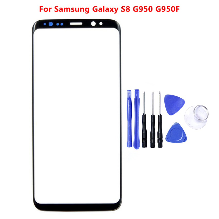 For <font><b>SAMSUNG</b></font> <font><b>Galaxy</b></font> <font><b>S8</b></font> Plus Front Outer <font><b>Glass</b></font> Lens Touch Panel Cover <font><b>Replacement</b></font> For <font><b>SAMSUNG</b></font> <font><b>S8</b></font> Front Screen Lens image