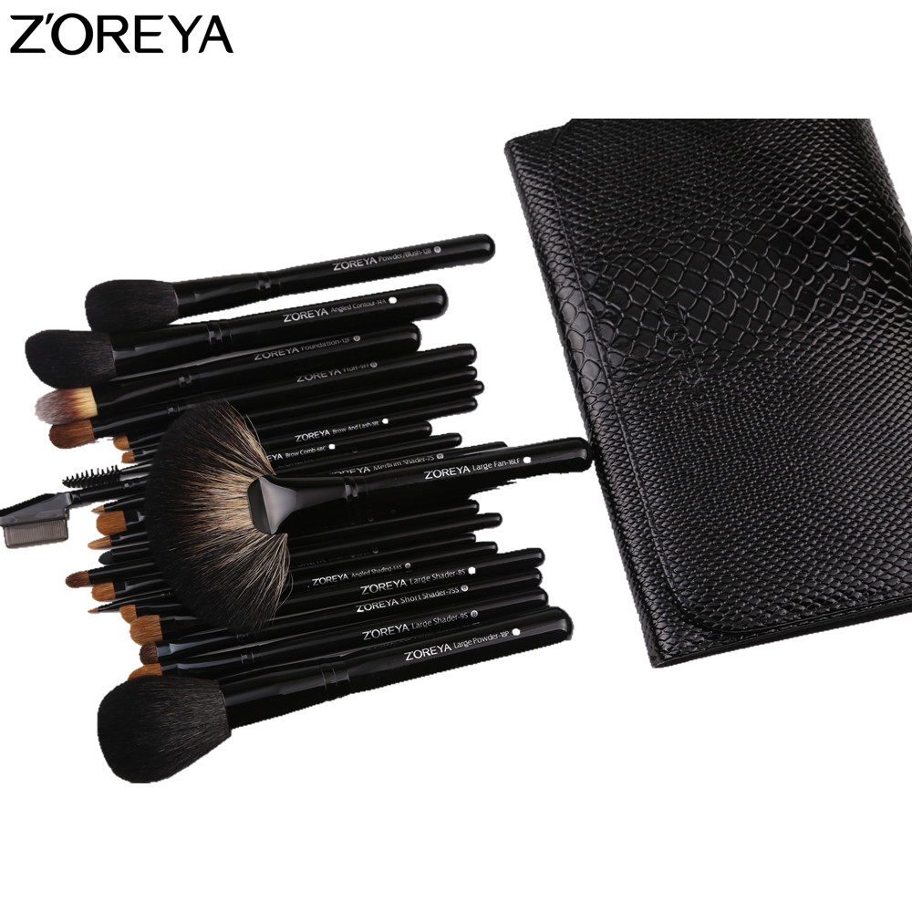 ZOREYA Makeup Brushes 21pcs Professional Make Up Brush Set Powder Foundation Blush Eye Shadow Brush silver professional foundation brush fish scale makeup brushes pro foundation powder blush contour brush fishtail cosmetic tool