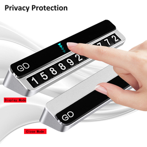 Image 5 - מתכת רכב זמני חניה כרטיס מספר טלפון מחזיק טלפון נייד מספר צלחת אוטומטי חניה כרטיס במכונית סטיילינג מדבקות