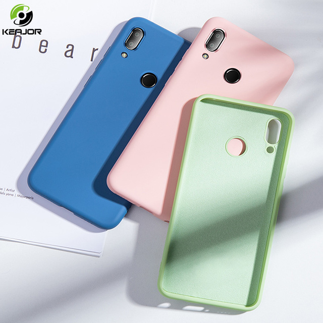 Keajor Soft Case For Xiaomi Redmi 7 6 6A Note 7 Pro Case Liquid Silicone Cover Luxury TPU Phone Case For Xiaomi Mi 9 SE Hoesje