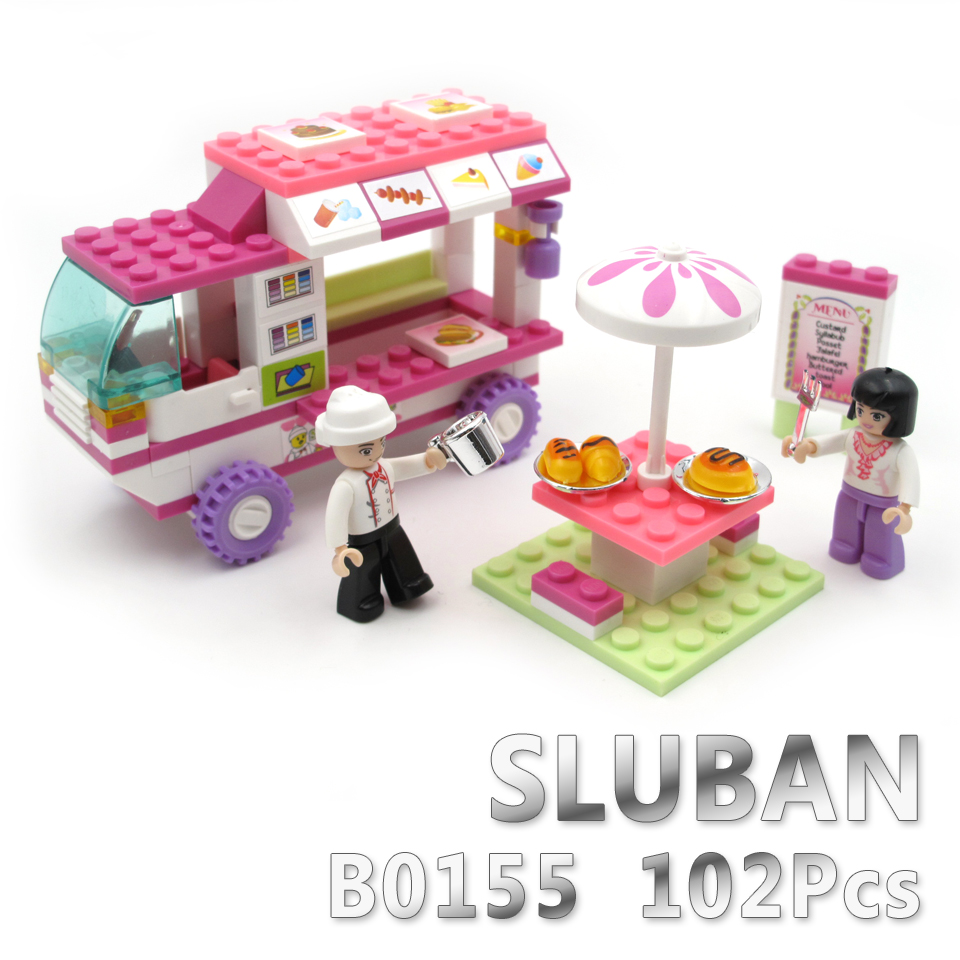 Sluban Model Building Compatible lego Lego B0155 102pcs Model Building Kits Classic Toys Hobbies car цена