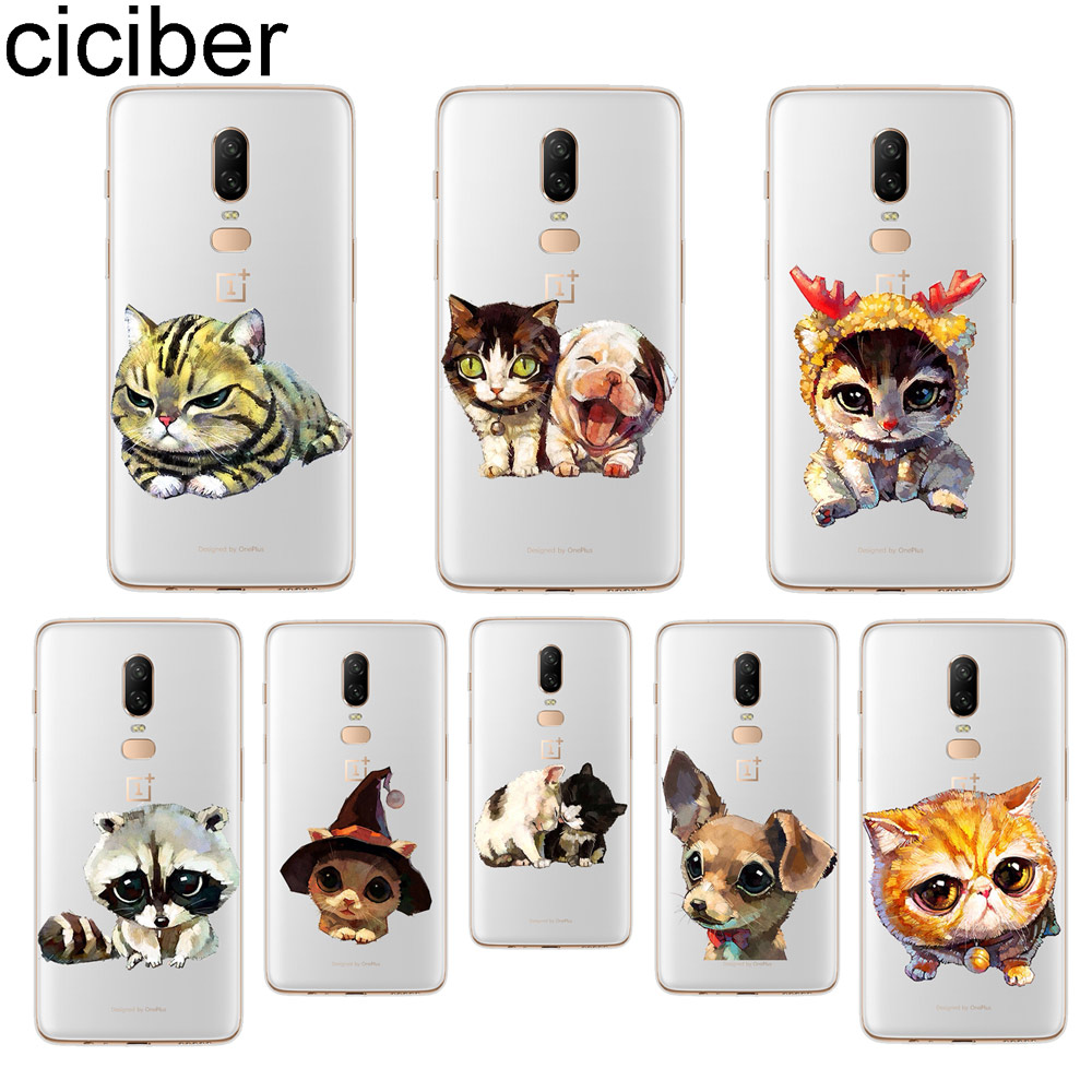 ciciber Lovely Cat Dog Phone Case For font b Oneplus b font font b 7 b