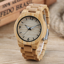 UNISTAR Unique Design Luxury Nature Bamboo Wooden Quartz font b Watches b font With Wood Band