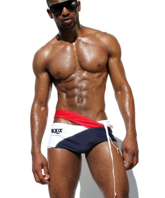 Hommes Noirs Sexy noir blanc couleurs hommes maillots de bain sexy maillot de bain