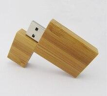 100pcs/lot Bamboo usb flash drive 4GB 8GB 16GB 32GB usb stick pen drive disk on key usb customized logo gift usb